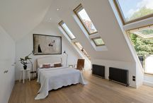 Hampstead Penthouse / Complete refurbishment of large top floor apartment involving layout changes with new stair and gallery in hallway. Conversion of roof space to create large master bedroom with en-suite bathroom.
