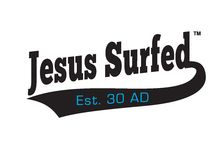 """Jesus Surfed Apparel Designs / Jesus Surfed Apparel Co. is a Christian-based Clothing Company that creates designs to help spread the Word and provide visual reminders that Jesus' sacrifice on the cross has given all of us the courage to """"Walk on Water"""".   Our designs are a collaborative effort of many people's ideas and creativity.  They are meant to invoke certain thoughts such as, """"That's cool"""", """"Jesus Surfed, huh?"""", """"What does it mean?"""" #JesusSurfedApparelCo #ChristianClothing #WalkOnWater www.JesusSurfed.com"""