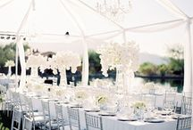 All White Weddings / Who says that an all white wedding has to be boring? Here are some ideas to get you started.