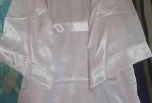 Kıyafet seçenekleri / Super shiny bridal robe with seagull figure, desined by me. For sale.