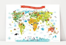 Maps for Kids / World Map, Maps for Kids posters, canvas of the world map, map of United States, Australia map, Map of Canada #worldmap #mapsforkids