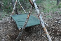 camp bushcraft forest
