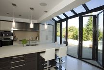 Extension with glass