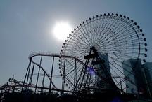 Photography / Backlight,Amusement park,Ferris wheel