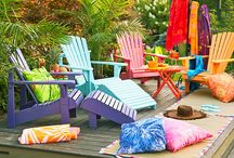 Adirondack Chairs / Adirondack chairs have been around for a very long time. Here you will find a huge choice of Adirondacks. Made of #wood, #recycled plastic, #cedar, #teak.