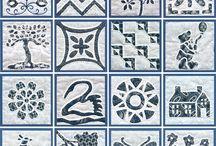 patchwork historical or samplers quilt / patchwork quilt samplers