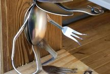 spoons forks