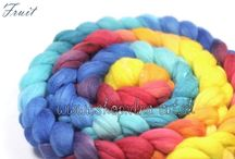 Merino Wool Hand Dyed Roving Spinning Fiber-