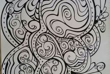 Joanna Osborne Colouring in Zentangles / Zentangles by me. Follow me on Facebook and Instagram - Colouring In Book