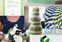 Color palate: navy blue and kelly green