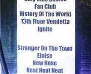 Setlists de conciertos / Concert setlists / Setlists de los conciertos a los que acudo