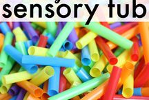 Sensory Bin Ideas / Lots of ideas for ways to fill the sensory bin.