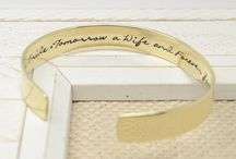 Wedding & Bridal Jewelry / A collection of personalized handmade wedding and bridal jewelry and gifts from Love it Personalized. We offer a wide selection of jewelry including bracelets and necklaces, and gifts for men as well like tie clips, collar stays and cuff links. Matching sets available for bridesmaids/groomsmen.