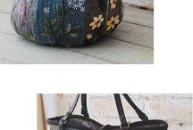 virágblokkos táska
