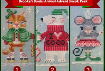 Brooke's Books Animal Advent Stitch-a-Long / Join the Animal Advent Stitch-A-Long, cohosted by Brooke's Books Publishing and Dragonflylotus Designs. SAL members can use this board to pin their WIP and finish photos, and Liz from Dragonflylotus Designs will also be posting tutorials, hints and tricks throughout the SAL. To be added as a pinner on this board, please email Liz at spunthread AT gmail DOT com. Happy Stitching!