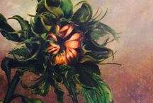 Ana's Sunflower by Odette Miller / Acrylic on canvas