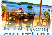 Fresh Fish Taverna SKLITHRI / Here is one of the best sea food beach restaurants in and around Skiathos, Fresh fish served daily with the best local wines, This is a must while on your holiday to Skiathos, We hope to see you soon.  Located at the Sklithri Beach Between Bus Stop 11-12 - OPEN FROM 12 Noon until Midnight -  ADDRESS > SKLITHRI, 37002 Skíathos, Magnisia, Greece  Phone - 6946932869-6945902556 Email - emilios_ko@hotmail.com