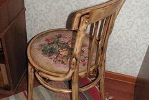 Декупаж и вышивка на мебели