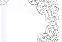 Рисунки скатерти и салфетки из интернета