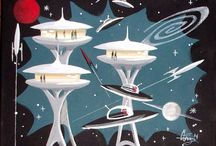 Space Art Retro Futuristic