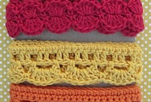 Borders & Edges to Make / Mostly crocheted or knitted edges for items.