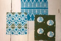 Pattern & Palette Notebook - Glasswork Turquoise / If you like our Glasswork fabric in Turquoise we give you suggestions on what étoile home fabrics, cushions and table linens work well with it.