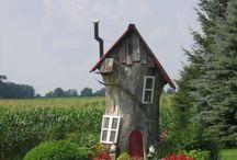 Dekoration af gamle træstuppe