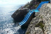 Water slides I will slide!