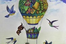 Johanna Basford hot air balloon