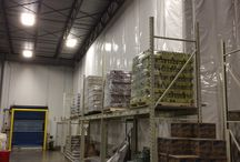 Beer Distributor | Insulated Warehouse Curtain Wall | Separates Keg and Case Beer / InsulWall helps create temperature-controlled rooms to divide craft and case beer at Double Eagle | Quality Brand Beverages.