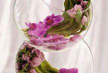 geles apvalioj vazoj