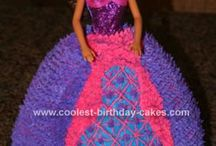 Princess doll cakes