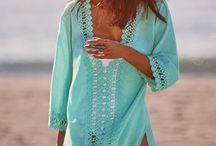 Crochet trim & different fabrics cover up