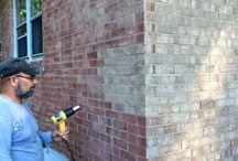 painted brick