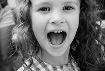 photos noir et blanc - enfants / divers expression enfants