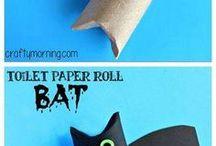 Kids basteln mit Papierrollen
