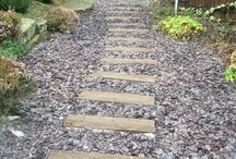 Garden path ideas / This board shows some ideas for garden paths , from cobble paths to stepping stone paths