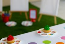 Art Party / Throw an Art or painting party with for your childs birthday. We'll be gathering ideas for food, cakes, party games, creative activities and more.