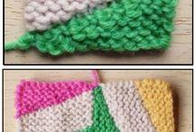 heklet og strikket teppe