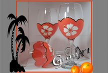 Painted Wine Glasses 2 / by Debbie Cockerton