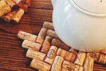 Şarap mantarından yapılan objeler