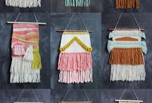 Trends: Weaving and Wall Hangings / Weaving. Tapestry. Wall hanging. Macrame. Knots. Yarn.