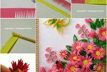Цветы из бумаги и ткани