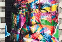 Kobra / Grafite pela cidade do artista Kobra