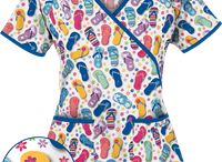 Summer 2014 Print and Solid Scrubs / Summer is about color and fun and being outdoors. Color your nursing wardrobe with these vibrant colors and prints. Check out UniformAdvantage.com for further details!