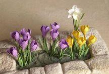 Miniature flower tutorials / Instructions to 1:12 flowers