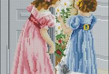 cross stitch ladies-peope