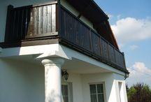 Domy jednorodzinne - Profile na balkony, tarasy proste. / Realizacje w których zastosowane zostały nasze profile balkonowe.