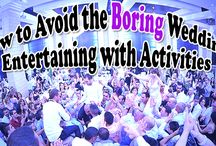 How to Avoid the Boring Wedding: Entertaining with Activities / Fun activities that are great for weddings. These activities will keep the party going – and are great for all ages attending the party. http://www.kimberleyandkev.com/avoid-boring-wedding-entertaining-activities/