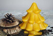 beeswax christmas candle